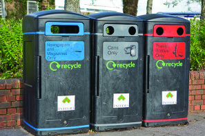 Recycling bins, picture from www.geograph.org