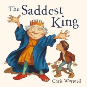The Saddest King by Christopher Wormell, picture via Goodreads